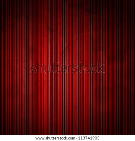 abstract red background or design pattern of vertical lines on faint vintage pattern of vintage grunge background texture on black border or elegant Christmas card brochure or web template background - stock photo