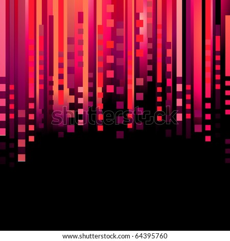 Abstract red background. Raster version. Vector version is in my gallery. - stock photo