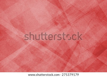 abstract red background with white triangle pattern - stock photo