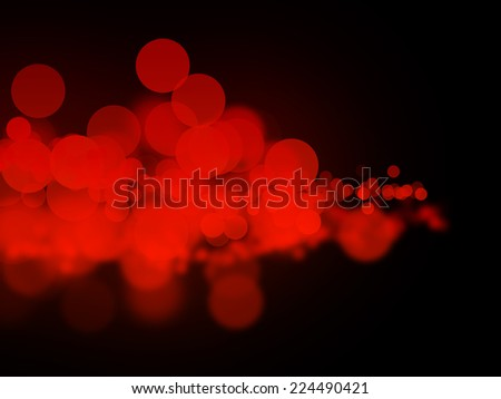 Abstract red bokeh circles - stock photo