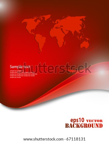 Abstract red business background - stock photo