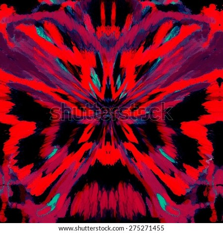 Abstract red butterfly painted ornament background pattern - stock photo