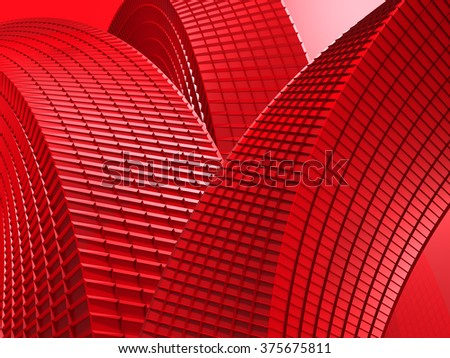 Abstract Red 3d Design Background. 3d Render Illustration - stock photo