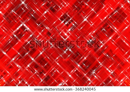 Abstract red fractal background with various color lines and strips