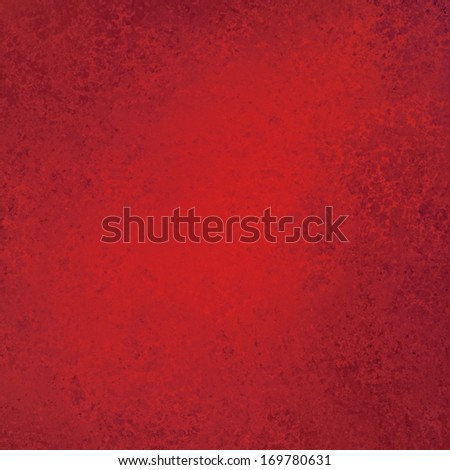 abstract red grunge background texture with sponge grungy brush strokes on border and brighter center, elegant valentine background design, web backdrop, brochure or poster background color