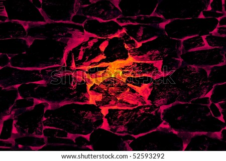 abstract red-hot stone furnace background