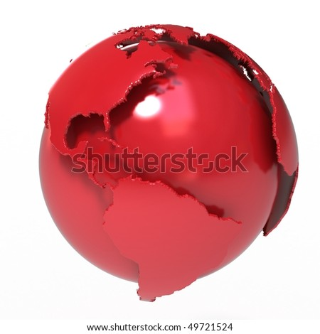 Abstract Red Planet Earth