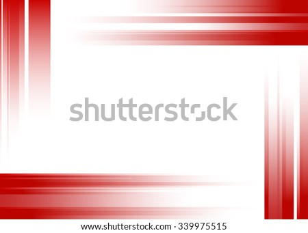 Abstract red rays on white background
