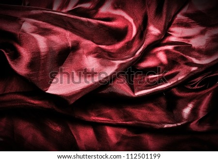 Abstract red silk background or texture