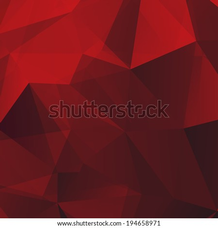 Abstract Red Triangle Geometrical Background, Raster Version - stock photo