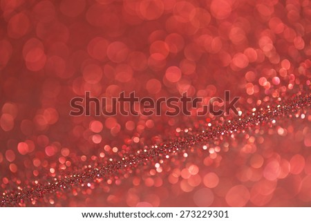 abstract red twinkled christmas background - stock photo