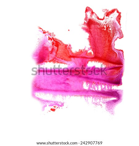 abstract Red, violet drawing stroke ink watercolor brush water color splash paint watercolour background