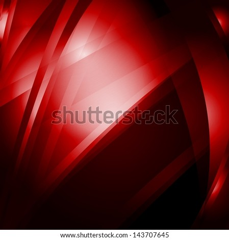 Abstract red wavy background - stock photo