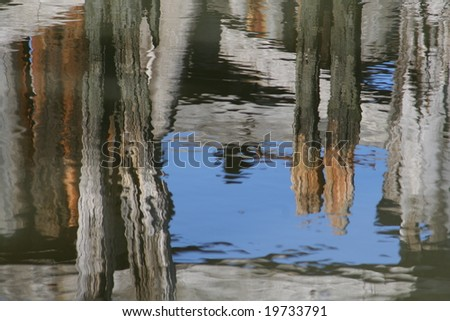 abstract reflection in the water