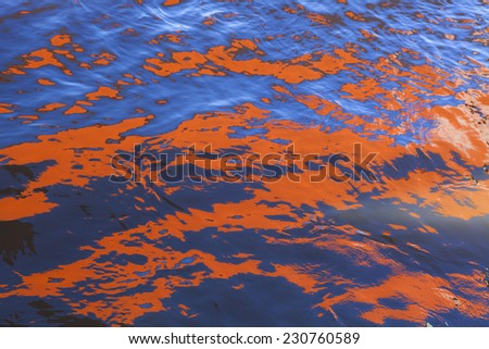 Abstract reflection in the water - stock photo
