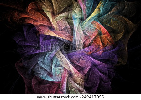 Abstract regular geometrical fractal structure. Visualization of complex equations. - stock photo