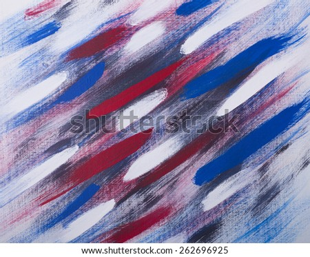 Abstract representation of American Flag, red, white, blue - stock photo