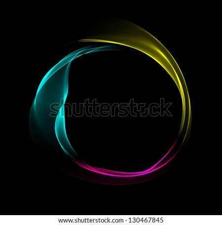 Abstract representation of the primary print colors cyan, magenta, yellow and black. - stock photo