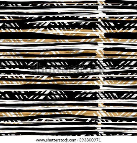 Abstract retro colors stripes pattern. Seamless hand-drawn lines . Raster version. - stock photo