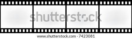 abstract retro film strip - stock photo