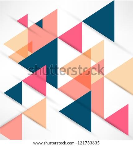 Abstract Retro Geometric Background - stock photo