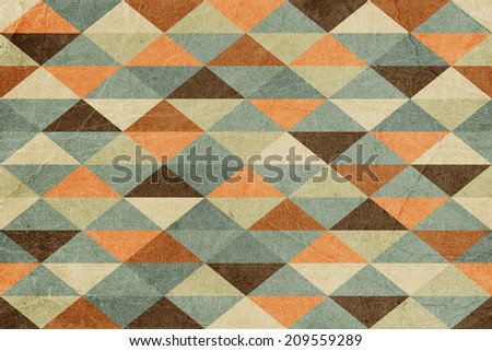 Abstract Retro Geometric Seamless Background  - stock photo