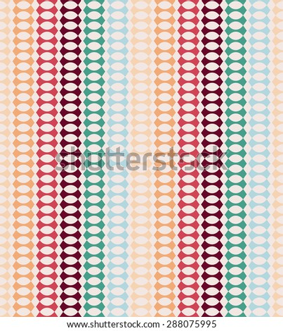 Abstract retro geometric seamless pattern with triangles illustration. - stock photo