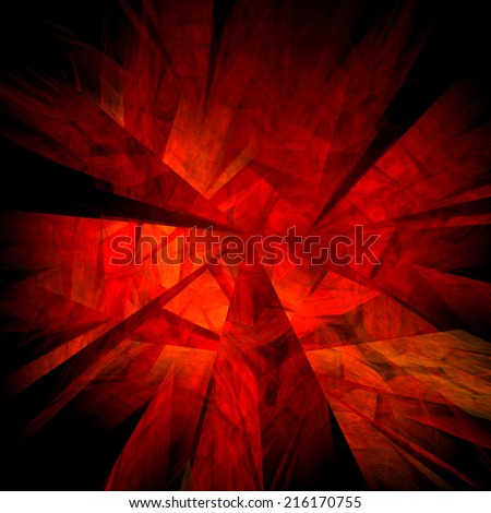 Abstract retro grunge red fractal illustration background.  - stock photo