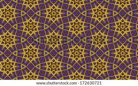 Abstract  retro seamless pattern - stock photo