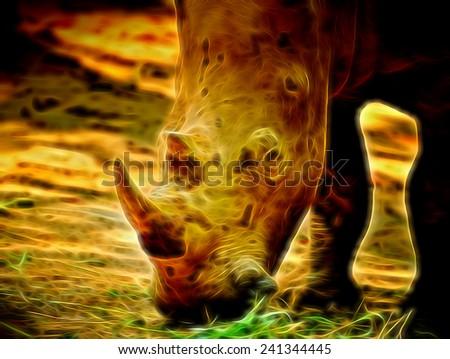 Abstract rhino  - stock photo