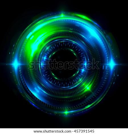 Abstract Solar System Vector Illustration On Stock Vector ...