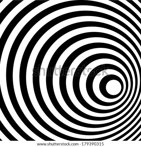 Abstract Ring Spiral Black and White Pattern Background. - stock photo