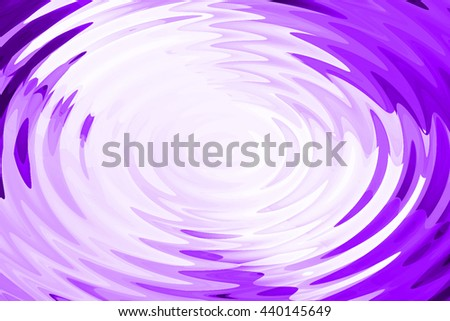 Abstract ripple in water with purple light concentric circles. Droplet falling in water.  - stock photo