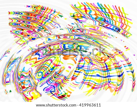 Abstract ripples background with color spots and lines - stock photo