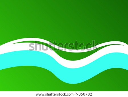 abstract river and road in park - stock photo