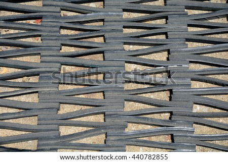 Abstract road background with tires tracks - stock photo