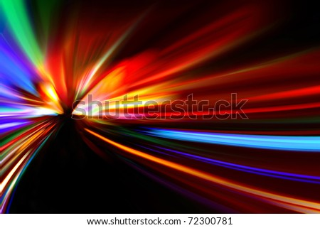 abstract road to sunset - stock photo