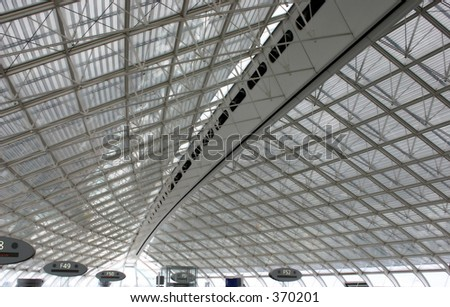 abstract roof in paris charles de gaulle airport