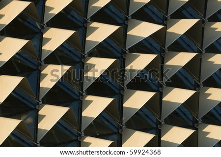 Abstract roof of the Esplanade Singapore - stock photo