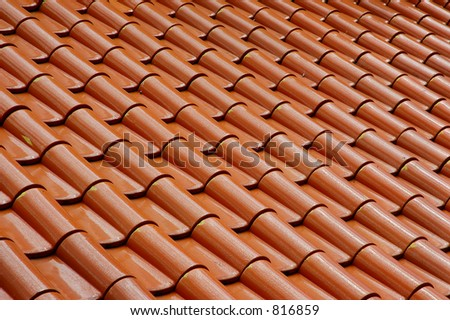 Abstract roof tile pattern - stock photo