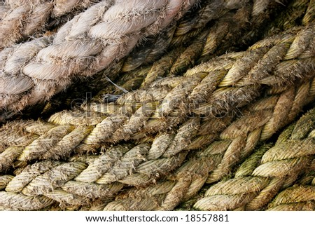 Abstract ropes background - stock photo