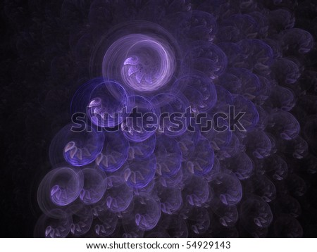 Abstract rotated lilac wings on a dark background - stock photo
