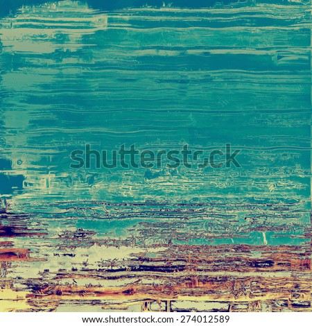 Abstract rough grunge background, colorful texture. With different color patterns: yellow (beige); brown; cyan; blue - stock photo