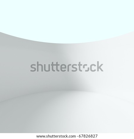 Abstract Round Wall - 3d illustration - stock photo