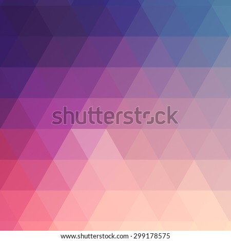abstract rumpled triangular background texture, low poly style - stock photo