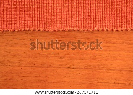 Abstract Rust Colored Fabric and Timber Background 1 - stock photo