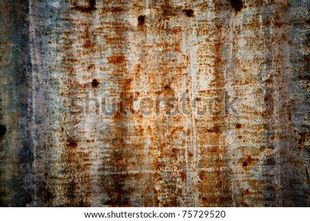 abstract rusty corrugated iron metal - stock photo