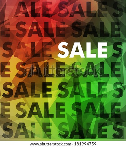 Abstract sale typography background - stock photo