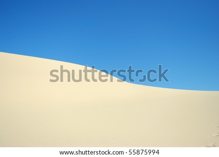 Abstract Sand Dune - stock photo