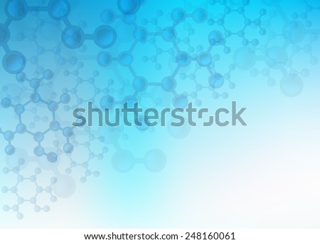 Abstract Science and Medical Image of Molecular Structure And Communication Background Illustration with plenty of copy space. - stock photo